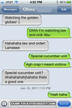 funny auto-correct texts - 15 Most Popular Autocorrects From January, 2011