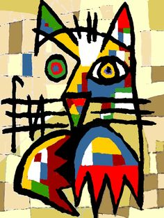 Outsider Art, Images Pop Art, Diy Canvas Art, Cat Art, Online Art Gallery, Modern Art, Original Art, Art Prints, Illustration