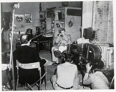 On the set of Rear Window