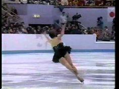 Oksana Baiul SP 1994 Lillehammer Winter Olympics one of my favorite black swans ever! Awesome skater!