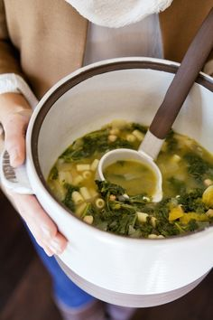 White Bean, Kale, & Squash Minestrone recipe :: A Sign and Stamp Social | Camille Styles