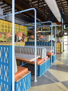Super colorful and fun Mexican restaurant decor. Learn more on LightsOnline Blog!