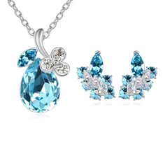 Austria Shining Crystal Jewelry Necklace Sets With Butterfly Stud Earrings Only at: $6.99 & FREE Shipping Worldwide