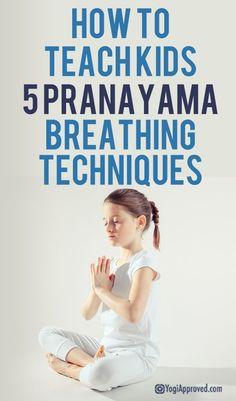 Yoga Poses : How to Teach Kids 5 Pranayama Breathing Techniques Pranayama, Yoga For Kids, Exercise For Kids, Kids Workout, Kids Yoga Poses, Basic Yoga Poses, Exercise Routines, Health Exercise, Exercise Motivation