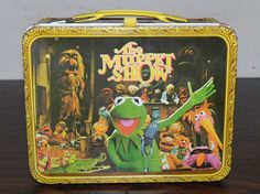 The lunchbox I carried... Vintage Thermos The Muppet Show Metal Lunchbox 1978 Jim Henson Kermit Ms.Piggy