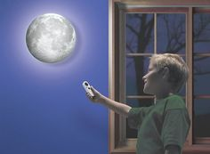 a room lamp, which is identical to moon in its look, shape and luminosity phases. You can hang this lamp vertically on the wall and see it cast soft lunar glow. It comes with a unique feature of sensors, which activate automatically with the rise of the moon. When night is about to start, the sensor turns on and in the morning, when the sun rises, it turns off. Moon Lamp