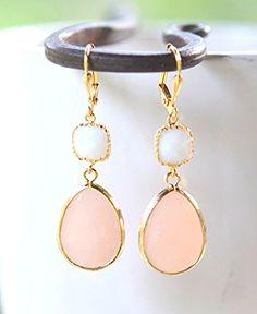 Peach Wedding Jewelry.