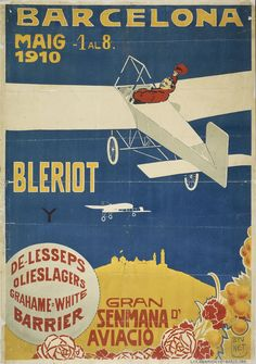 Gran senmana d'aviació. Barcelona 1910   Museu Nacional d'Art de Catalunya