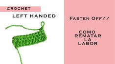 You will learn how to fasten off your crochet proyects in a easy step by step tutorial! Do you want to learn how to crochet? Beginner Crochet Tutorial, Crochet For Beginners, Fasten Off Crochet, Learn To Crochet, Half Double Crochet, Left Handed, Crochet Necklace, Hands, Make It Yourself