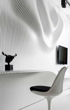 Straight Forward Bedroom Design in Black&White by Geometrix   http://www.pinterest.com/AnkAdesign/design-materials/