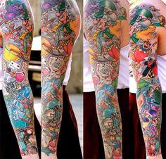 disney sleeve tattoos - Google Search