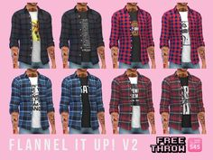 Flannel It Up! v2 at CC-freethrow • Sims 4 Updates