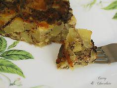 Tortilla de patatas y morcilla de Burgos (morcilla de arroz)