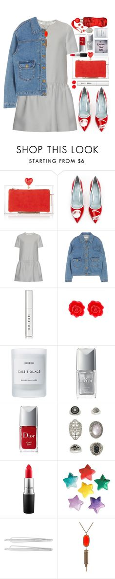 """""""#803 Valentine"""" by blueberrylexie ❤ liked on Polyvore featuring Charlotte Olympia, Chiara Ferragni, Valentino, Bobbi Brown Cosmetics, Fornash, Byredo, Christian Dior, Topshop, MAC Cosmetics and Cara"""