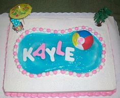 1000 Images About Swimming Pool Cake Adah 39 S 6th Birthday On Pinterest Swimming Pool Cakes