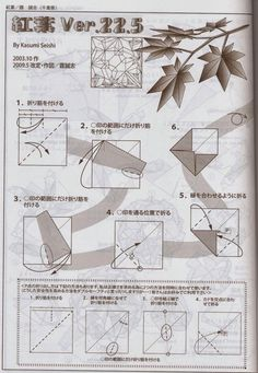 El arte del Origami: Hoja de Arce (Maple Leaf) diseñada por Kasumi Seishi