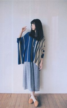 Poncho and skirt