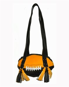 Black & Gold Football Shoulder Bag.  Buy it @ ReadyGolf.com