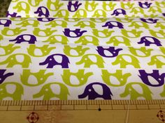 Japanese fabric Elephant printed Half yard  . $6.90, via Etsy.