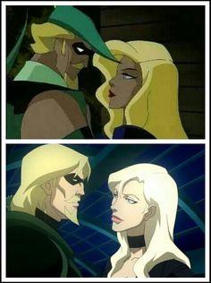 Oliver Queen & Dinah Lance Top:Justice League Unlimited Botton:DC Showcase-Green Arrow