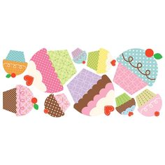 Happi Cupcake Giant Wall Decals// Inpsiration for my next DIY art project!