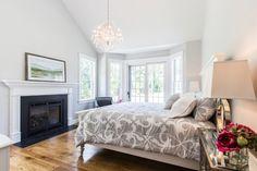 Edgartown Home Rental - SULLS   Martha's Vineyard Vacation Rentals. Master bedroom with en-suite bathroom.