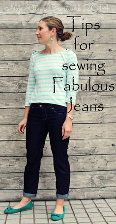 looking to sew a pair of jeans? Here are 10 tips for sewing jeans that you should read before you start.