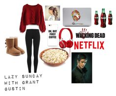 """""""Lazy Sunday With Grant Gustin"""" by caracunliffe2000 ❤ liked on Polyvore featuring Polo Ralph Lauren, UGG and Chicwish"""