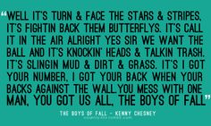 we love the boys of fall.