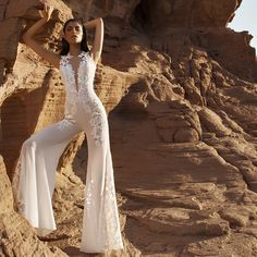bridal jumpsuit pantsuit lace