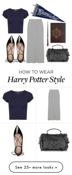 """""""ravenclaw // contest entry"""" by rmdannatt on Polyvore featuring WearAll, Kate Spade, Proenza Schouler, harrypotter, ravenclaw and contestentry"""
