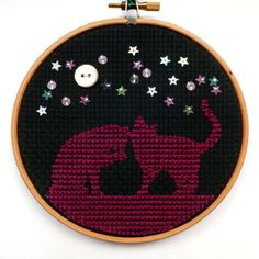 Curious Cats 5 Embroidery by CraftDrawerUK on Etsy, £12.50