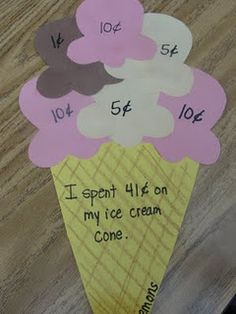maybe using spots on a lady bug, feathers on a turkey, toppings on a pizza, etc., instead of ice cream.  Endless!