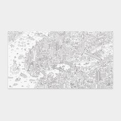 Gift Giving Genius for my niece... Giant NYC Coloring Poster | MoMAstore.org