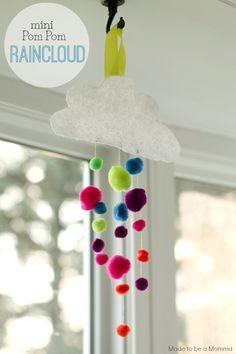 Mini Pom Pom Raincloud - Sugar Bee Crafts