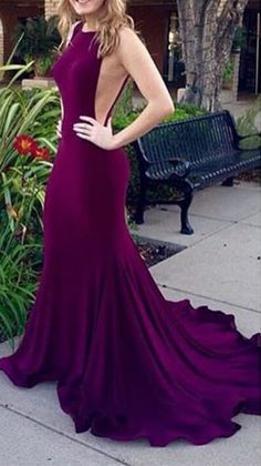 Dark Plum Long Mermaid Prom Dresses Real Sexy Open Back Evening Dresses,Modest Prom Dress For Teens sold by olesa wedding shop. Shop more products from olesa wedding shop on Storenvy, the home of independent small businesses all over the world. Prom Dresses 2016, Prom Dresses For Teens, Long Prom Gowns, Backless Prom Dresses, Sexy Dresses, Party Dresses, Gowns 2017, Beautiful Dresses, Mermaid Gown Prom