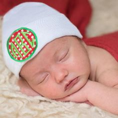 Christmas Red and Green Check Monogram PATCH Newborn Hospital Hat Boy Or Girl, Baby Boy, Christmas Hats, Hospital Photos, Future Baby, Photo Ideas, Red And White, Patches