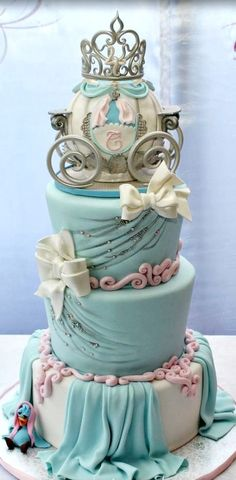 Cinderella's Carriage Beautiful Birthday Cake Images for Kids