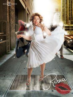 Manipulação com o tema Marilyn Monroe.