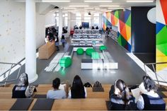 Teen spaces link...neat modern approach with showing differing space without walls