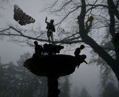 Brunnen im Nebel.......