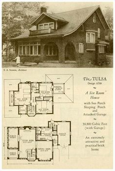 great site for antique homes!!  Many styles! 1927 Brick Houses: The Tulsa