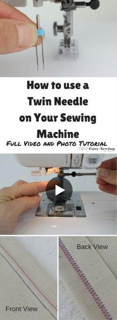 How to use a twin needle or double needle video tutorial with some great tips too! by MarylinJ
