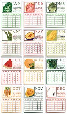 seasonal foods calendar, love.