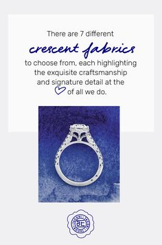 You know it's truly Tacori when you see the Tacori Crescent - a heart shape form that is embedded in every Tacori piece. #Tacori #TacoriRing #engagementring #details Tacori Rings, Tacori Engagement Rings, Shape And Form, Heart Shapes, Fabric, Tejido, Tela, Cloths, Fabrics