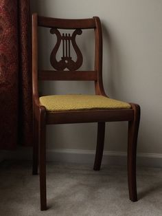 Antique Lyre Back Chair