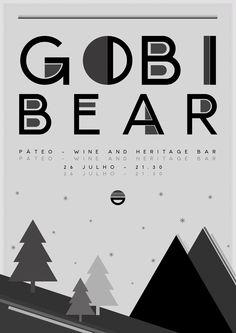 Gobi Bear Gig Poster i've made for Páteo Bar in Évora, Portugal.