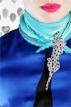 brooches on scarves