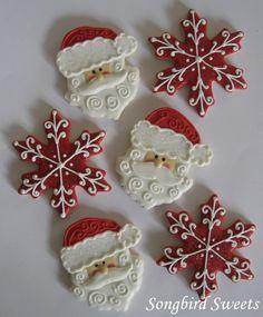 Santa & snowflakes cookies
