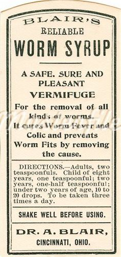Worm Syrup.